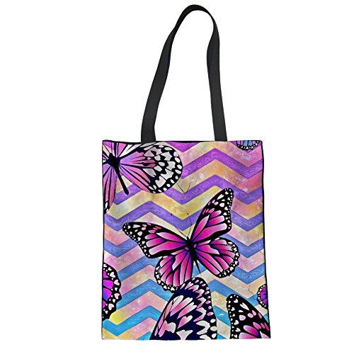 Piup En Toile Sac Violet Papillon Pour Adolescents tout Motif Fourre TrHTq4