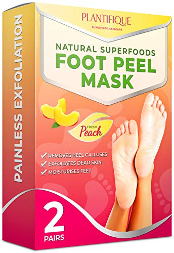 Plantifique Foot Peel Mask - 2x Pairs of Baby Foot Peeling Masks for Callus Removal