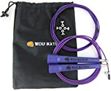 WOD Nation Speed Jump Rope - Blazing Fast Rope for Endurance training for Sports like Boxing, MMA, Martial Arts or Just Staying Fit - Fully Adjustable to Fit Men, Women and Children - PURPLE offers