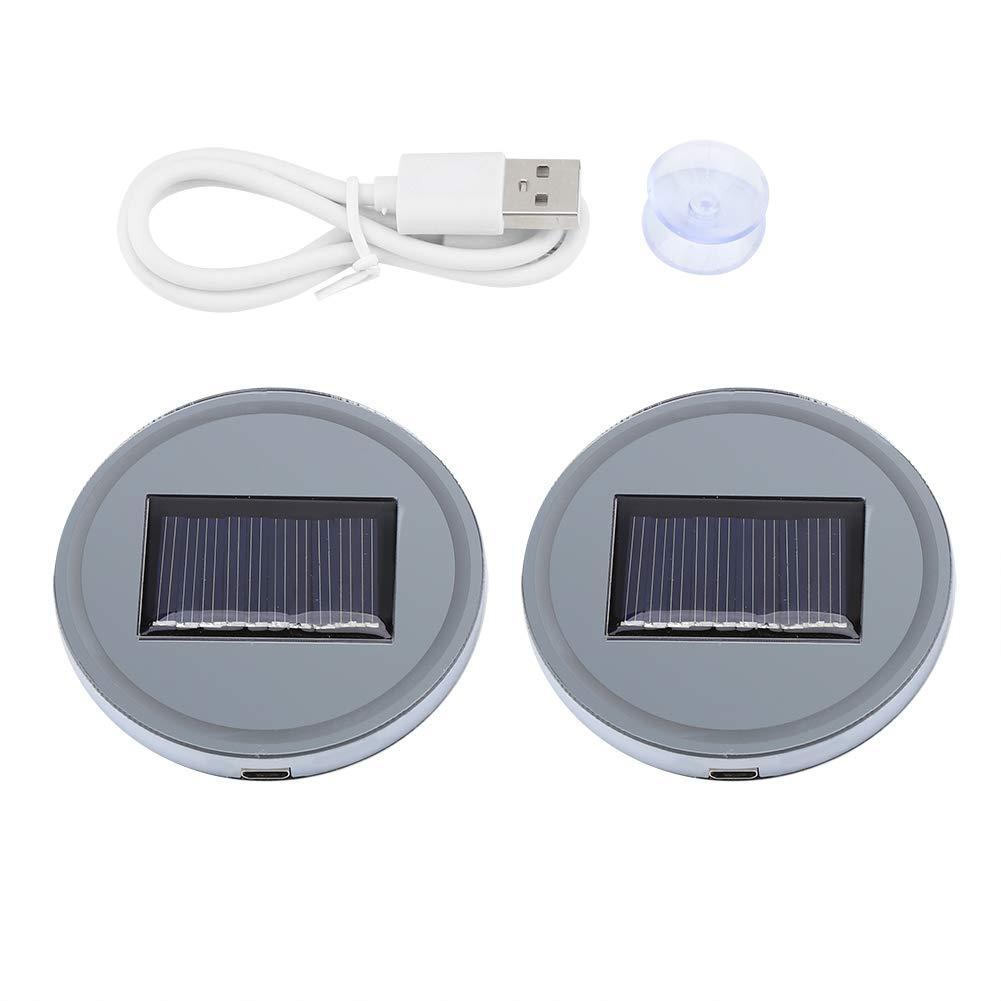 Wandisy 2 Pezzi LED Portabicchieri per Auto 7 Colori Che cambiano Il Tappetino per Tazza luminescente con Ricarica USB