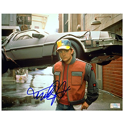 (Michael J. Fox Autographed 8×10 Back to the Future Part II)