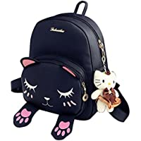 Donalworld Girl Floral School Bag Travel Cute PU Leather Mini Backpack M Pattern13