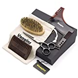Beard Grooming Trimming Kit for Men Care - Professional Mustache Scissors, Beard Comb, Beard Brush, Styling Beard Shaping tool Maintenance Gift Set