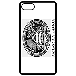American Samoa Coat Of Arms Flag Emblem Black Apple Iphone 5 Cell Phone Case - Cover by mcsharks