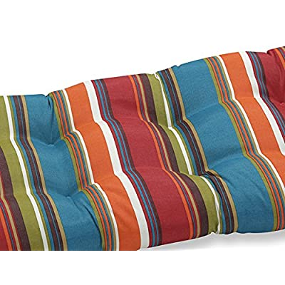 Pillow Perfect Outdoor Westport Wicker Loveseat Cushion, Teal: Home & Kitchen