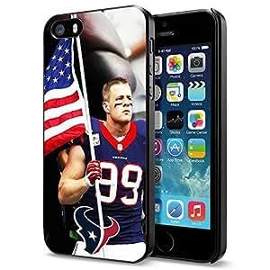NFL Houston Texan Watt , Cool iphone 4s Smartphone Case Cover Collector iphone 4s Black