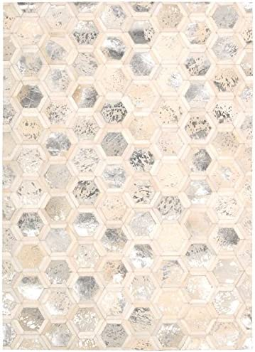 Nourison Ma01Mamini City Chic Snow Rectangle Area Rug, 5-Feet 3-Inches by 7-Feet 5-Inches 5 3 x 7 5