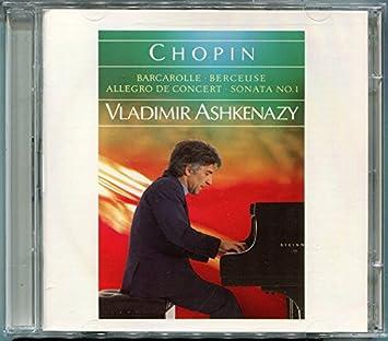 Chopin:Piano Sonata 1 - Ashkenazy, Vladimir: Amazon.de: Musik