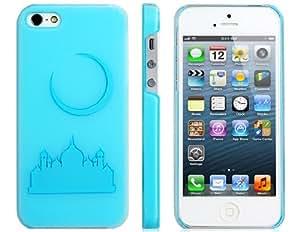 Matte 3D Castle Protective Case for iPhone 5 (Blue)