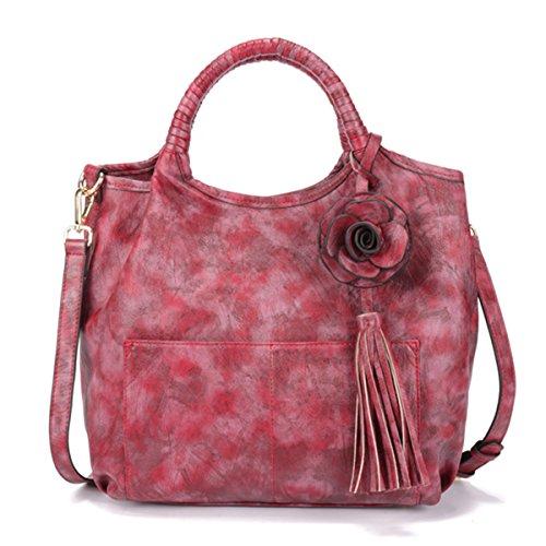 Brenice BRENICEukpursemall128 - Bolso al hombro para mujer Rojo Red