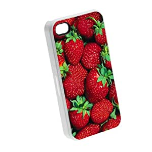 Strawberries Fruit - iPhone 5/5s Glossy White Case