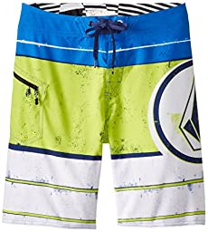 Volcom Big Boys\' Lido Ion Boardshort, White, 30