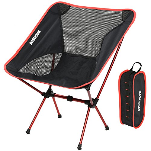 MARCHWAY Ultralight Folding Camping Chair, Portable Compact for Outdoor Camp, Travel, Beach, Picnic, Festival, Hiking, Lightweight Backpacking (Portable Camping Chair)