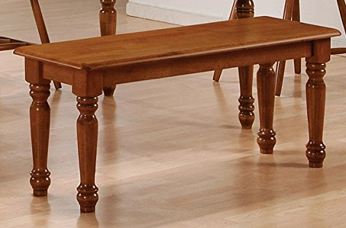 Home Source 50902146 Winslow Collection Asian Hardwood Bench Spice, 14 by 18 by 44-Inch, Oak