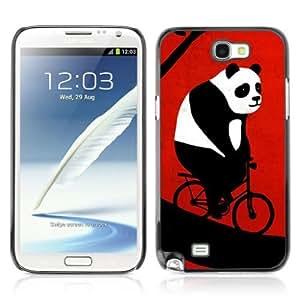 YOYOSHOP [Funny Bicycle Panda] Samsung Galaxy Note 2 Case WANGJING JINDA