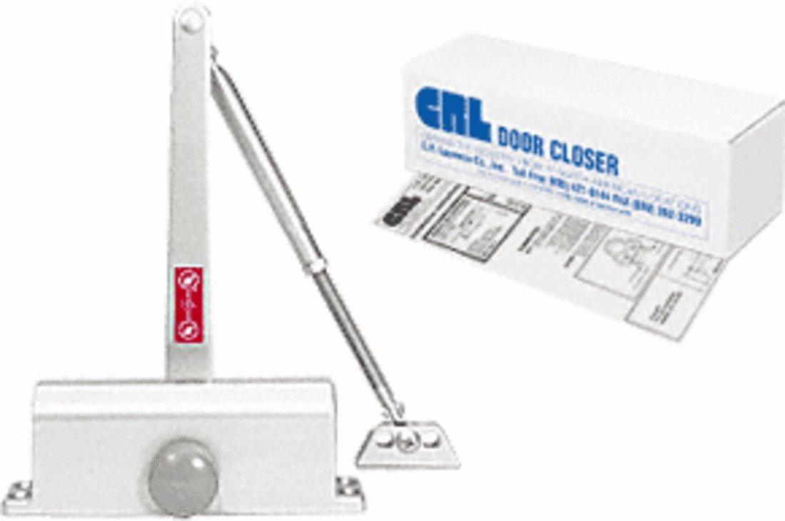 CRL DC51 Aluminum ANSI Grade 1 Size 1 Light Duty Surface Mount Door Closer