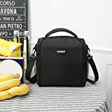 Nesee Reusable Lunch Pail Cooler Bag with Shoulder Strap, Soft Leakproof Liner | Large Lunch Box Tote for Work, School