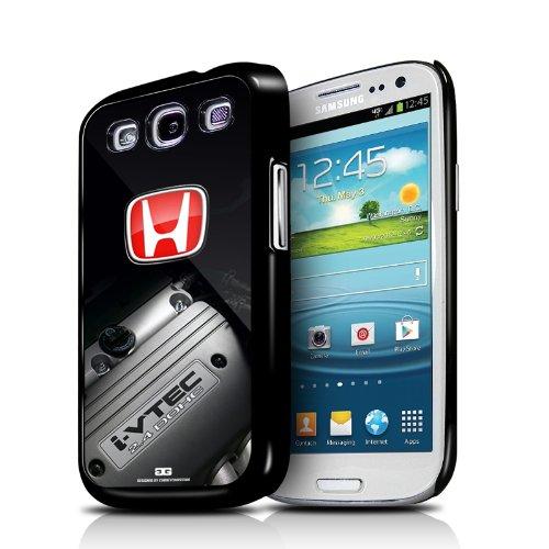 Honda i-VTEC Engine Red Logo Samsung Galaxy S3 Black Cell Phone Case