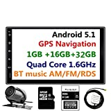 Panlelo PA09YZ32, Android 5.1 Car Stereo 7 Inch 2 Din Head Unit GPS Navigation with 1G RAM and 16GB+32GB Flash Audio Radio HD Video Player Built in Wi-Fi BT AM/FM/RDS (no dvd player)