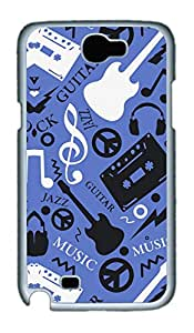Samsung Galaxy Note II N7100 Cases & Covers - Music World Custom PC Soft Case Cover Protector for Samsung Galaxy Note II N7100 - White