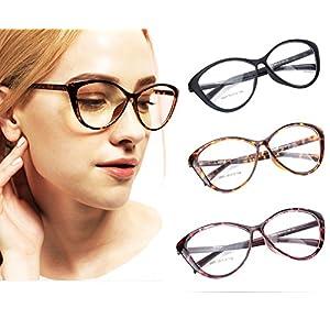 Agstum Ladies Womens Cat eye TR90 Glasses Frames Optical Eyeglasses 59mm