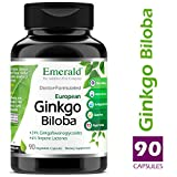 Ginkgo Biloba 60 mg Extract – Supports Memory, Vascular Health, Cognitive Function – Emerald Laboratories (Ultra Botanicals) – 90 Capsules