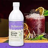 NuNaturals NuStevia Sugar-Free Simple Syrup Natural Stevia Sweetener with 0 Calories, 0 Sugar, 0 Carbs (16 oz)