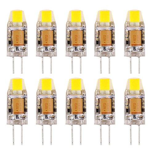 YUSHILED G4 LED Bulb 12V AC/DC 6000K Daylight White LED C...