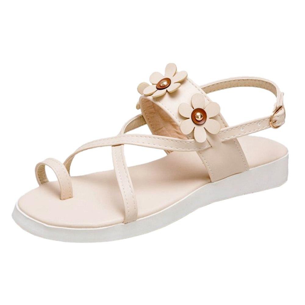 JOJONUNU Damen Mode Slingback Sandalen Beige2018 Letztes Modell  Mode Schuhe Billig Online-Verkauf