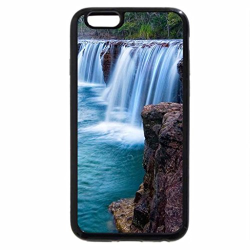 iPhone 6S Case, iPhone 6 Case (Black & White) - Beautiful Clear Waterfall