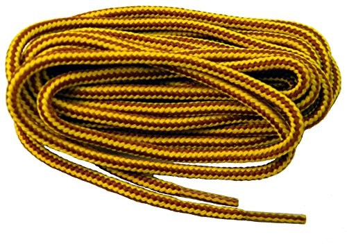 proBOOT(tm) Rugged Wear Heavy Duty Boot Laces Shoelaces - 2 Pair Pack (27 inch 69 cm, Gold Yellow (Wear Shoe Boot)