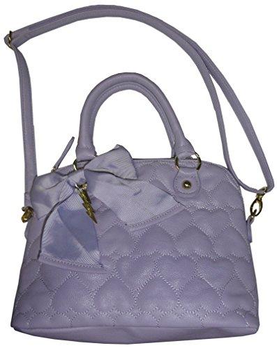 Betsey Johnson Purse Handbag Mini Be Mine Dome Satchel Lilac