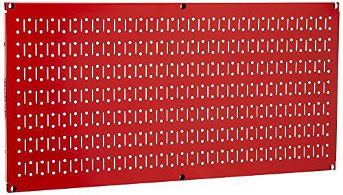 (Wall Control Pegboard 16in x 32in Horizontal Red Metal Pegboard Tool Board Panel)