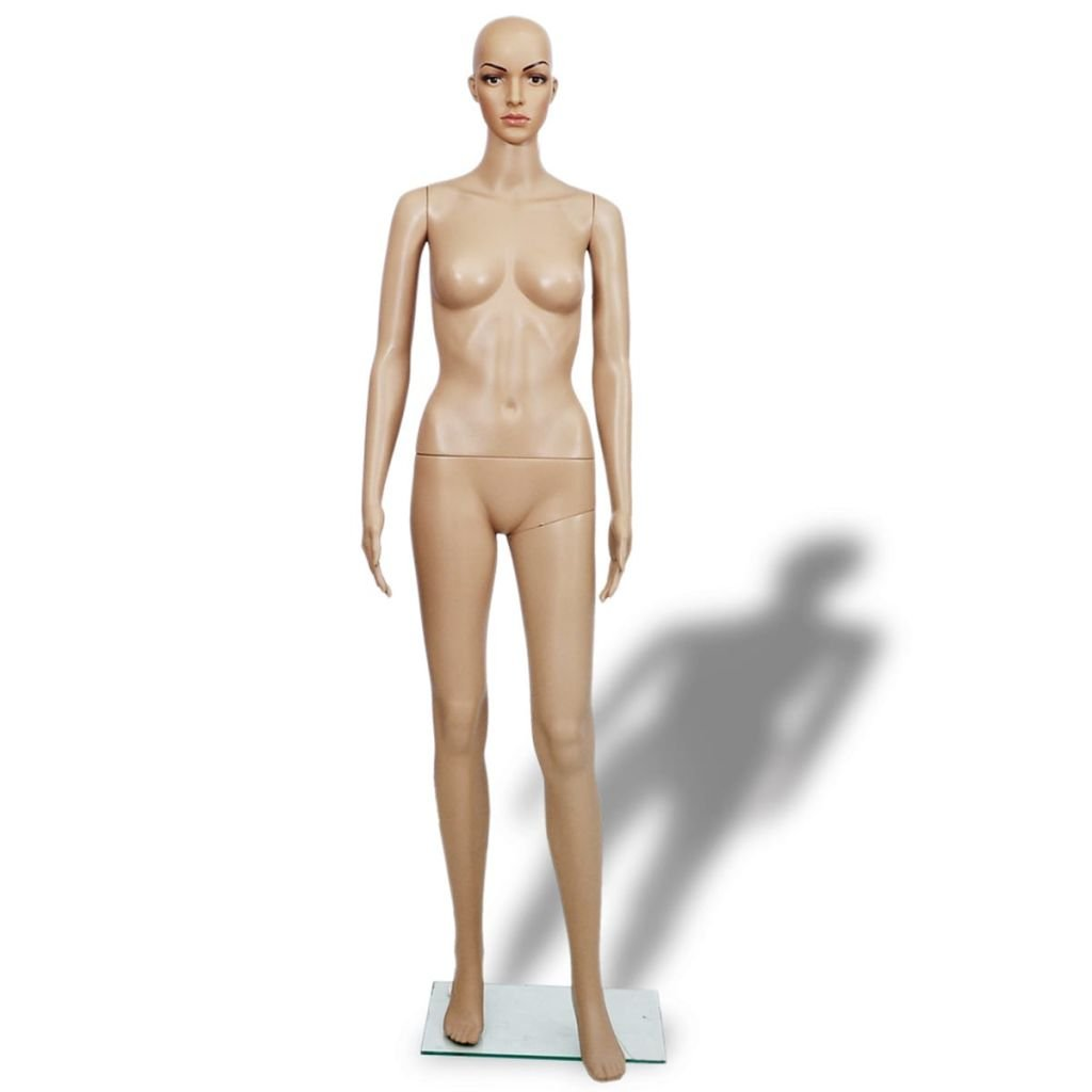 Giantex Female Mannequin Realistic Head Turns Dress Form Display Full with Base