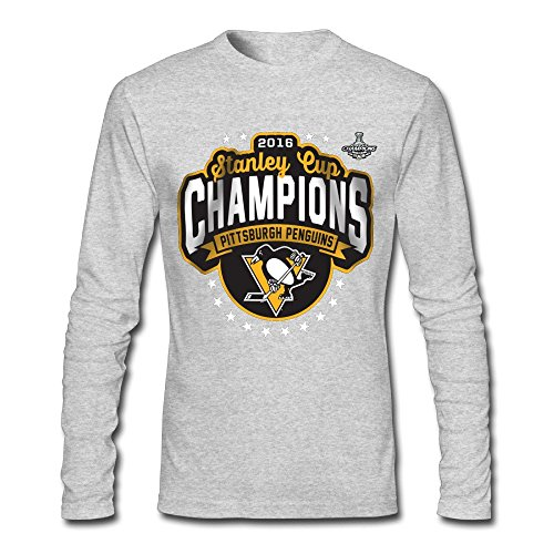 LJT Men's Pittsburgh Penguins 2016 Stanley Cup Champions Long Sleeve T Shirt