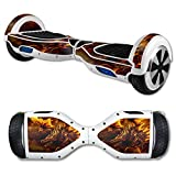 MightySkins Protective Vinyl Skin Decal for Hover Board Self Balancing Scooter mini 2 wheel x1 razor wrap cover Golden Dragon