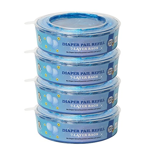 Signstek Odor Lock Protection Nursery Fresh Diaper Genie Refills for Diaper Genie Diaper Pails, 286 Count, Pack of 4, for Baby Registry