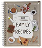 Recipe Notebook - Family Recipe Notebook Journal, Recipe Organizer, Blank Recipe Book, Kitchen Accessory & Cooking Guide for Recording Family Treasured Recipes, 6.5 x 8.2 inches