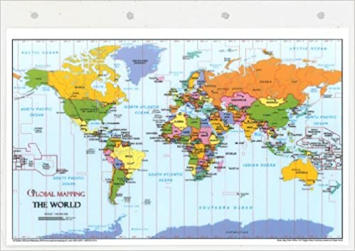 Laminated a4 world map for ringbinders amazon global laminated a4 world map for ringbinders amazon global mapping books sciox Choice Image