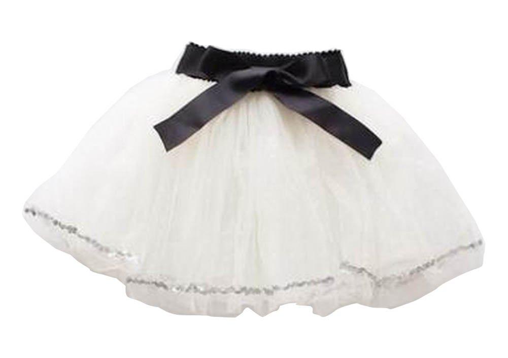 6003c8c33 [White-4] Girls Tutu Skirt Tulle Princess Skirt Dress-up Fluffy Skirt,  Spray Skirts - Amazon Canada