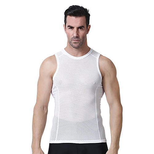 Yianerm Men's Cycling Base Layer Under Shirt Biking Sleeveless Base Layer (XL) ()