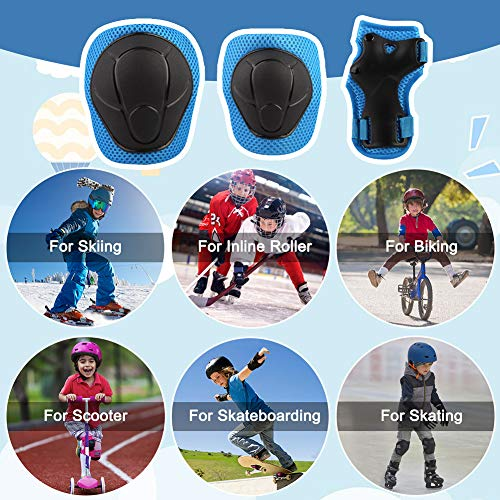 Toddler Sports Protective Gear for Kids Boys Girls Skateboard Rollerblading Bike Scooter Soft Knee and Elbow Pads with Gloves Set Wemfg Protective Gear Set Kids Reinforced Stitching Around