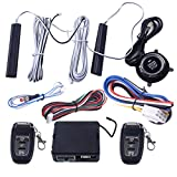 CITALL 9pcs 12V car PKE passive keyless entry button remote starter engine start stop alarm system set