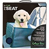 Unique Petz Collapsible Pet Travel Booster and Car Seat Protector, Blue