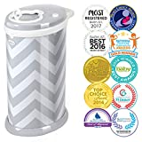 Ubbi Steel Diaper Pail, Gray Chevron