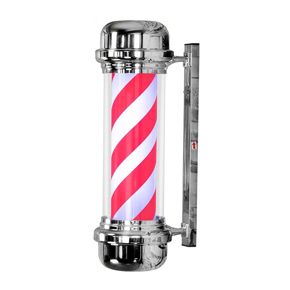 vendite calde PoJu LED Beauty Salon Turn Lampada Hair Hair Hair Salon Logo Light Box Retro Barber Shop Lampada da parete Applique da parete Impermeabile Outdoor coloreato Lampada da parete  in vendita