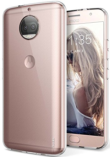 Moto G5S Plus Case, Aeska Ultra [Slim Thin] Flexible TPU Gel Rubber Soft Skin Silicone Protective Case Cover for Motorola Moto G5S Plus (Clear)