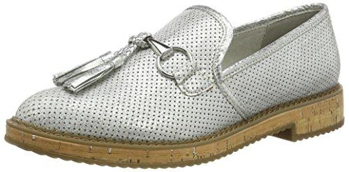 Tamaris WoMen 24705 Loafers, White (White Met.Str. 106), 5 UK