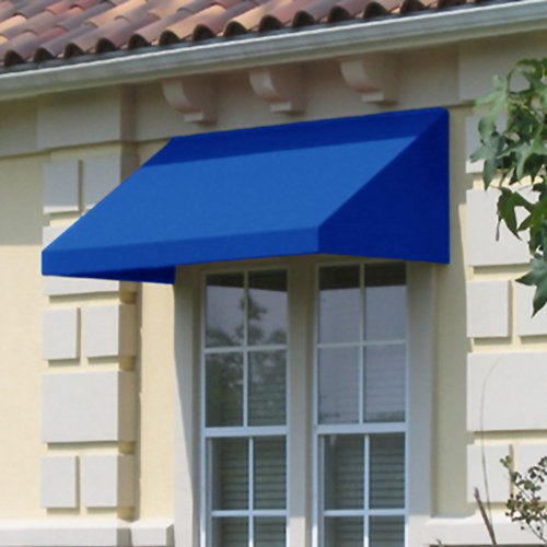 Awntech 8-Feet New Yorker Window/Entry Awning, 31 by 24-Inch, Bright Blue