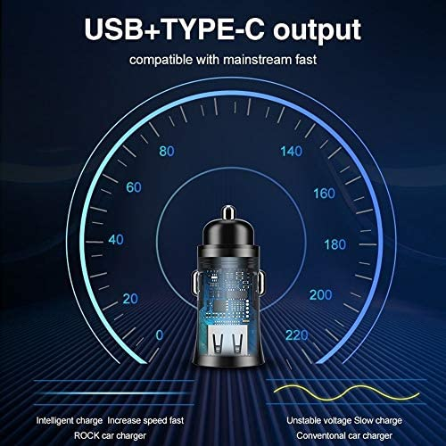 車の充電器、クイック充電カーバッテリー充電器、電話サムスン小米科技Huawei社のUSB携帯電話車の充電器のための3.0 USB車の充電アダプタ Charger (Plug Type : Black)